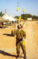 5 clubs during basic training in the Israeli army